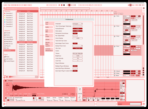 Strawberry flavored Chocolate Theme for Ableton 10 by Taozi98