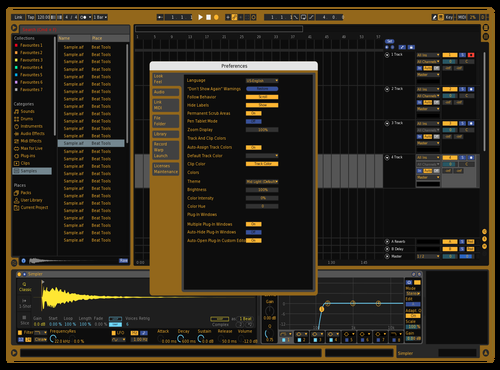 Black&gold Theme for Ableton 10 by D.J. Grey
