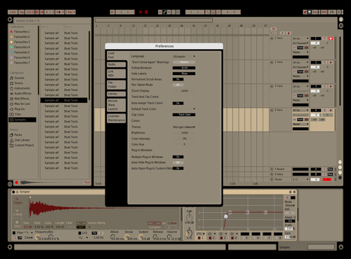 Black and Tan Theme for Ableton 10 by Aldo Sepulveda