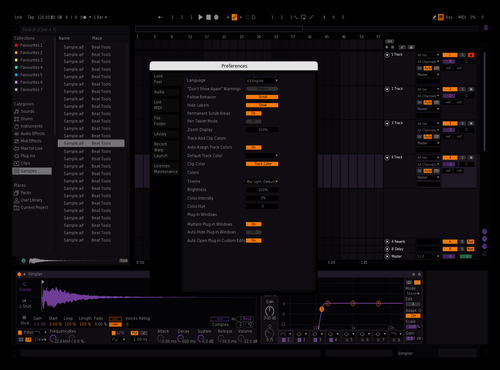 OrangePurply (Easier 2 The Eye) Theme for Ableton 10 by grampana