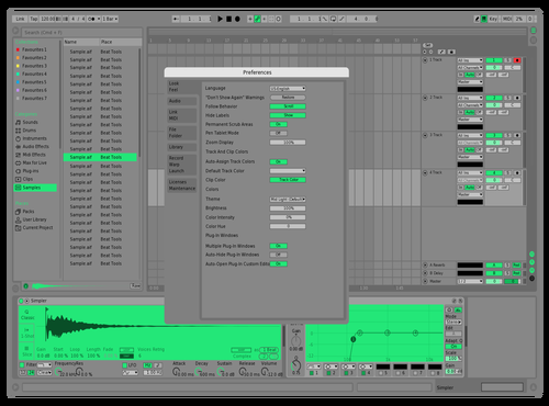 Peppermint Theme for Ableton 10 by Ableton Themes
