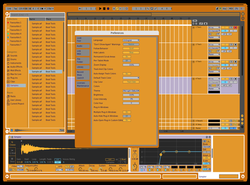 BLACK AND YELLOW X4 Theme for Ableton 10