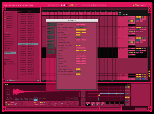 PANK Theme for Ableton 10 by Fletcher Hendrickson