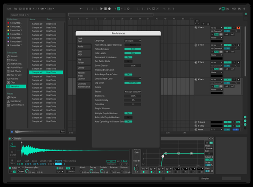 Brighter Seafoam Theme for Ableton 10 by Iashua