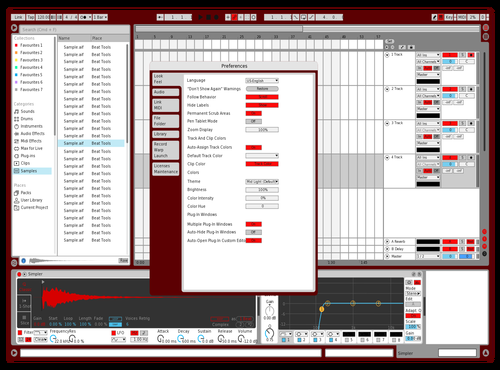 Red Zone Theme for Ableton 10 by Rishabh   Ghai