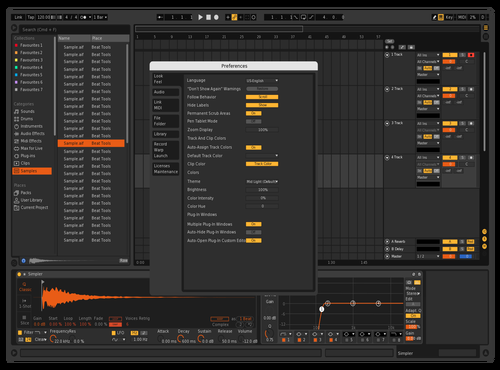 Dark Orange Theme for Ableton 10 by sckadjo