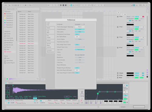 Flat Biolab Azure Sky Edition Theme for Ableton 10