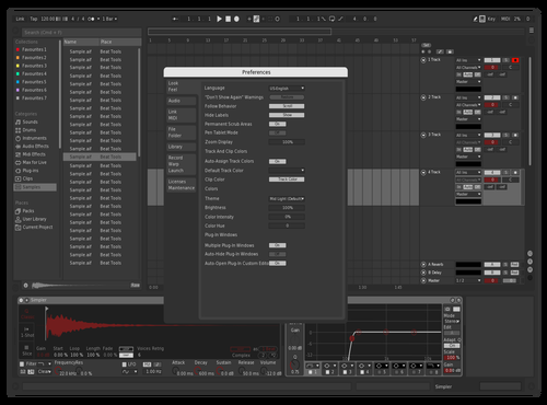 Dark red Theme for Ableton 10 by Alchemy