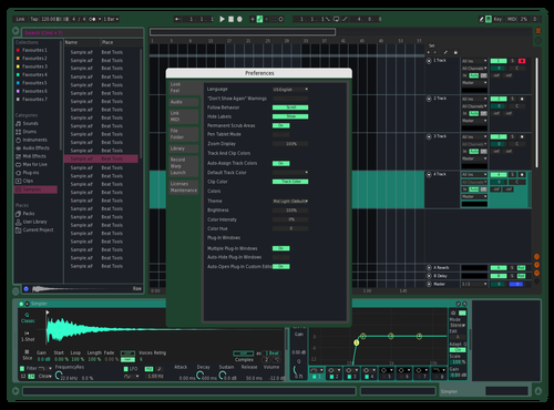 Fresh mint Theme for Ableton 10 by zack. zap