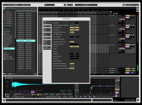 Vision rmx Theme for Ableton 10 by Atreo