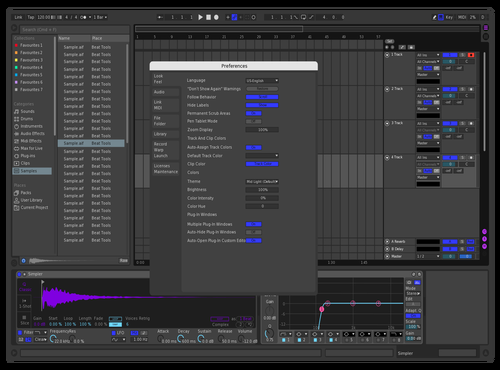 Purple black and blue Theme for Ableton 10 by Mateus