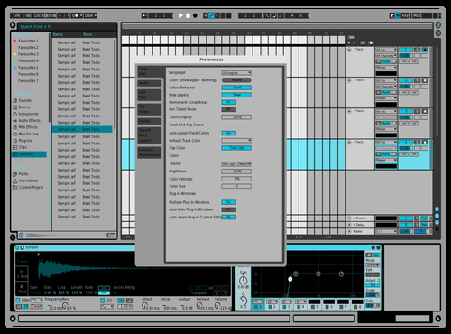 Sweeper mid dark 01 Theme for Ableton 10 by Austin