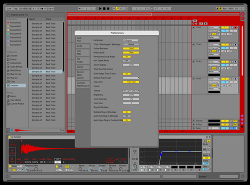 Red n' Blue Slick Theme for Ableton 10 by Valentin Feinen