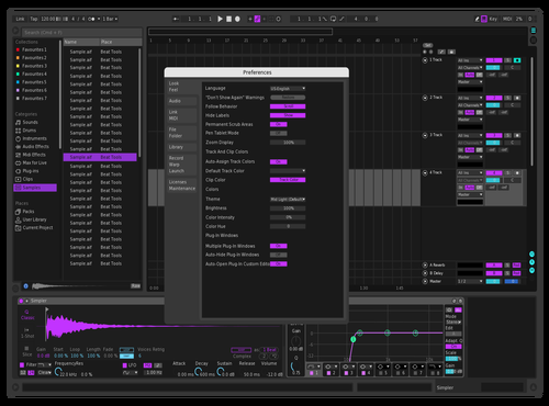 Dark and Purple Theme for Ableton 10 by GooSe