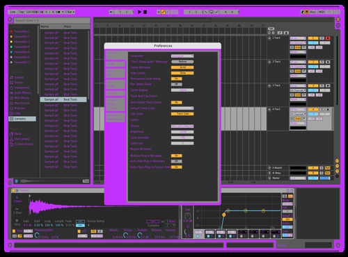 Purp Theme for Ableton 10 by Gabe