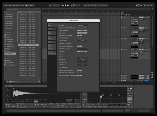 HD BW Details Theme for Ableton 10 by harddrivermusic