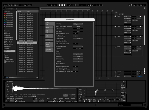 Tuxedo Theme for Ableton 10 by michele