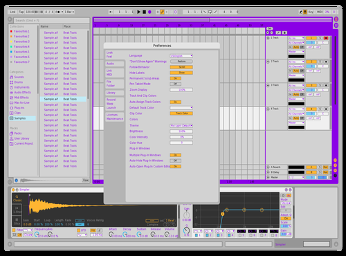 Purple Tryouts Theme for Ableton 10 by Lukas Smith