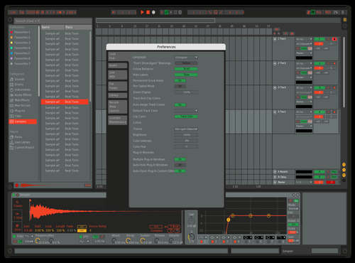 Gray, Red-Yellow-Green Theme for Ableton 10 by Max Hintzen