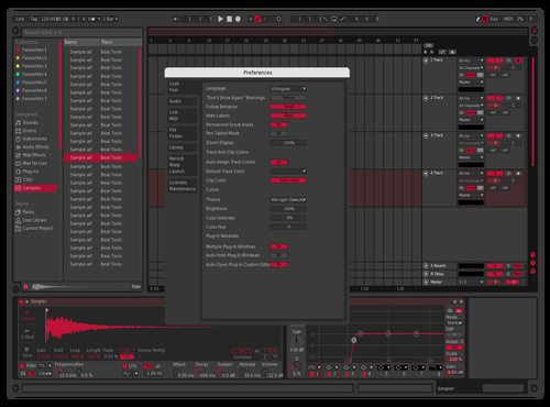 Industrial Ruby Theme for Ableton 10