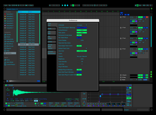 Midnigh aqua Theme for Ableton 10 by john