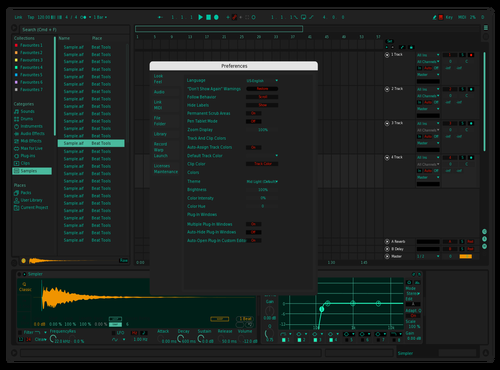 TEAL Theme for Ableton 10 by Acutuslux