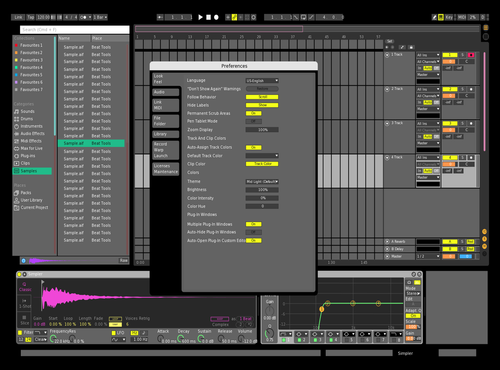 Normal neon Theme for Ableton 10 by Branden Blais