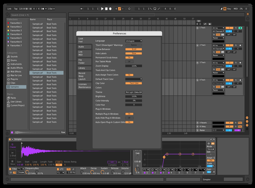 Orange Purple MidDark Theme for Ableton 10 by Reaver