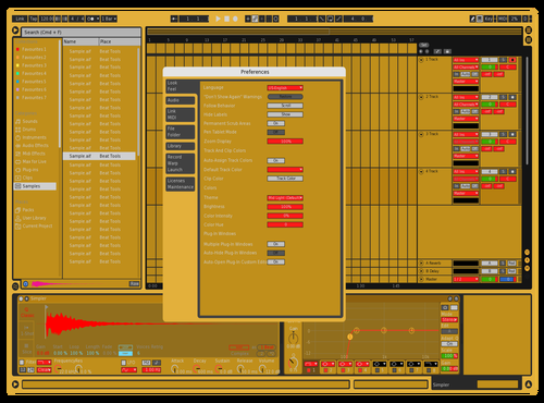 GOLDEN BOY Theme for Ableton 10 by A+NAL0G