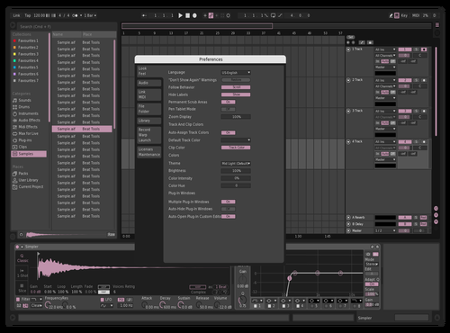 Sakura Tree Theme for Ableton 10 by akvma