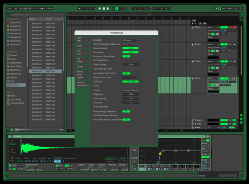 Venom Green Theme for Ableton 10 by CoSine