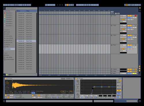 Purple with Orange Theme for Ableton 10 by Davey