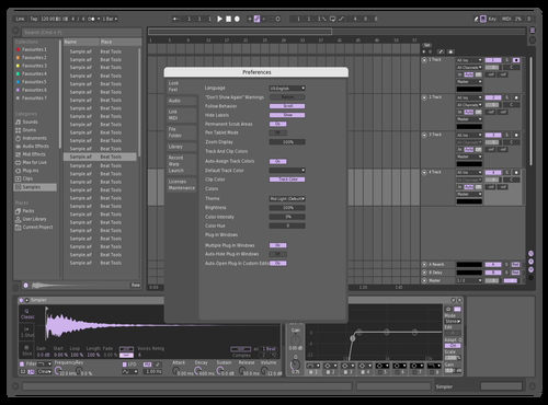 Veins Theme for Ableton 10 by neo blayd