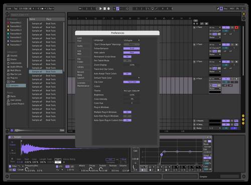 Purple - Dark Theme No.6 Theme for Ableton 10 by THEdo