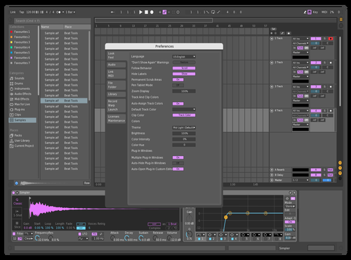 KAYA PURPEL Theme for Ableton 10 by KAYA