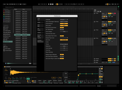 SaucerDark Theme for Ableton 10 by Saucerpan