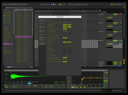 Yellow Mid Theme for Ableton 10 by Sypex
