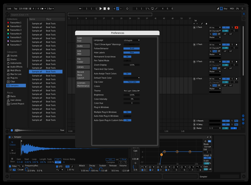 BlueSpoofy Theme for Ableton 10 by Benjamin Lapierre