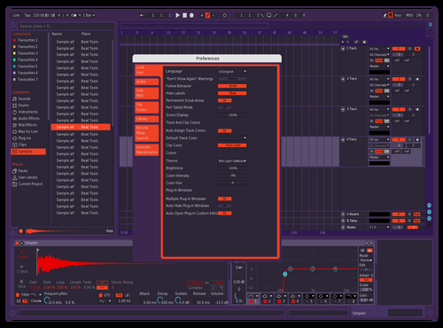 Purple Nights Theme for Ableton 10 by Clayton