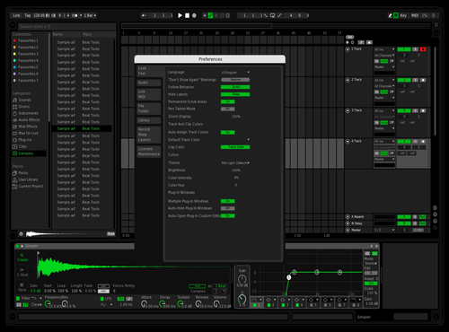 Light Green Theme for Ableton 10 by feeert