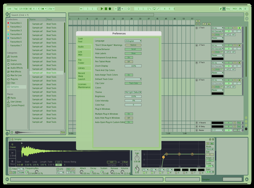 CoolGreen Theme for Ableton 10 by cycloone.712