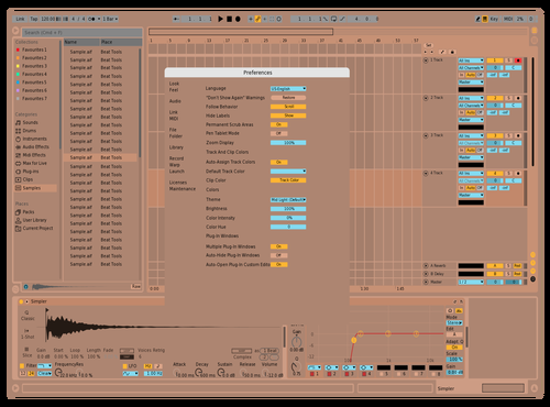 Ginger-Unfinished-V2 Theme for Ableton 10 by Mixchief