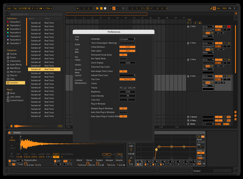 Orange Theme for Ableton 10 by Matt Thomas Gleason