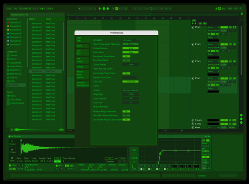 Matrix Theme for Ableton 10 by Zennor