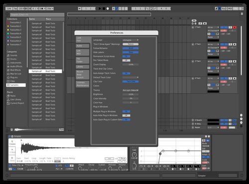 Black&White&Blue Theme for Ableton 10 by Thomas M-G