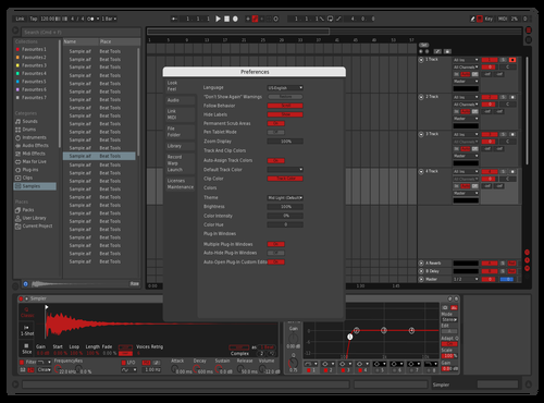 Red Drip Theme for Ableton 10 by rob