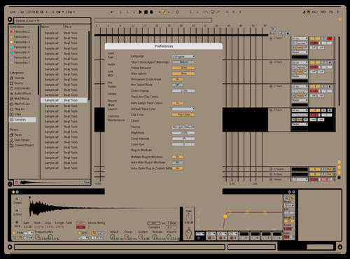 MADJUON BEIGE Theme for Ableton 10 by MATTHEW DICKENS