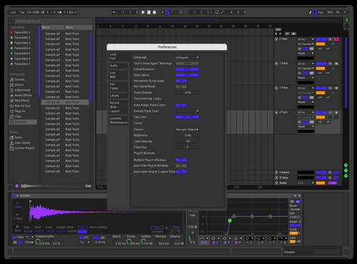 Funky Dark Theme for Ableton 10 by Funkyman