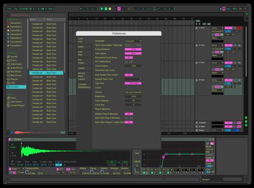 Nuclear dark Theme for Ableton 10 by gabriele