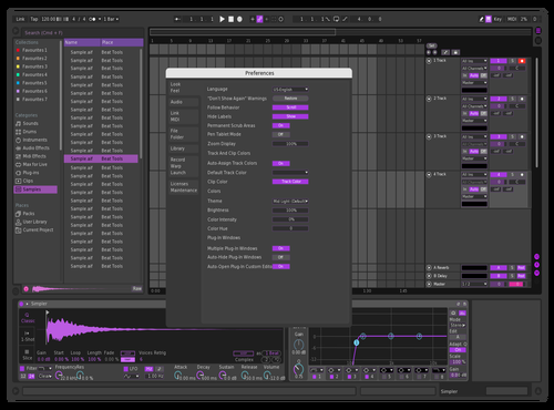 Purple dank Theme for Ableton 10 by lateau